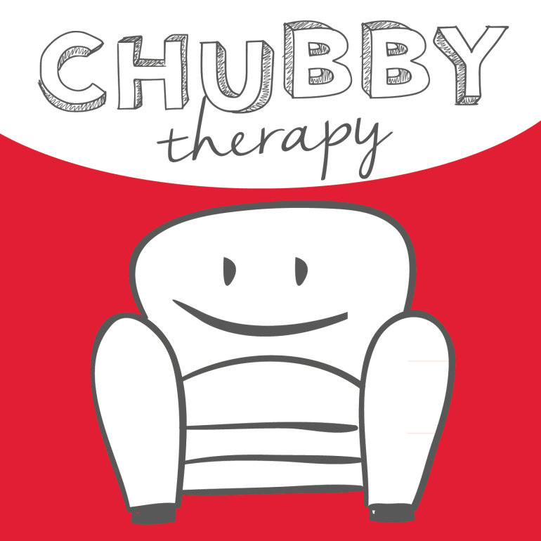 chubby therapy couch red